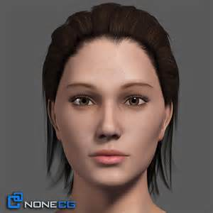 Gallery for 3D Model Of Adult Female Head Rigged Female 3D Models And