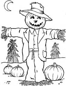 free printable scarecrow coloring pages for
