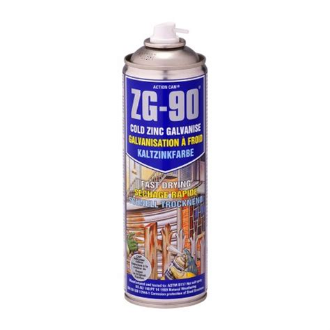 spray painting in the cold zg 90 cold zinc galvanising spray paint can