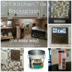 Diy Kitchen Backsplash by Kitchen Tile Backsplash Do It Yourself