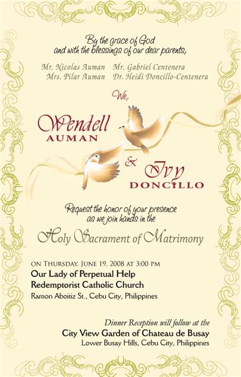 Invitation Letter Design Sle Sle Civil Wedding Invitation Philippines Wedding Invitation Ideas