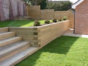 25 best ideas about sleeper retaining wall on
