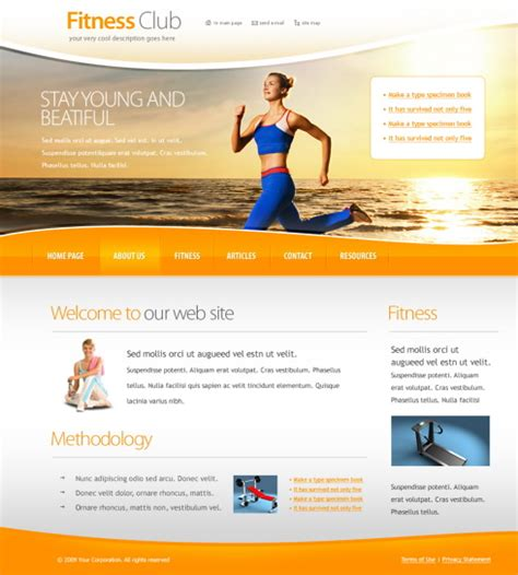 website templates for gym 6032 sports fitness website templates dreamtemplate