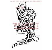 Climbing Tribal Tiger Tattoo By WildSpiritWolf
