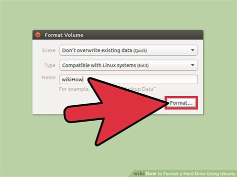 format hard drive xubuntu how to format a hard drive using ubuntu with pictures