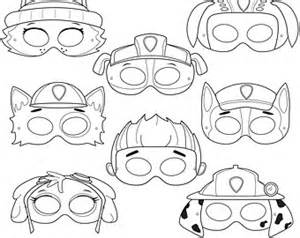 PAW Patrol Printable Mask Coloring Pages sketch template