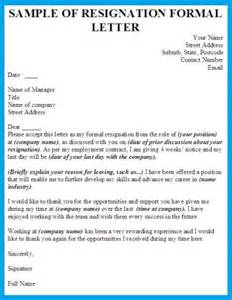 Resignation letters business letter examples