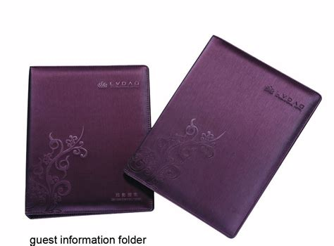china leatherette guest information folder guestroom