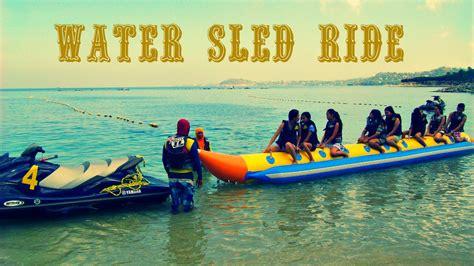 banana boat ride youtube water sled banana boat ride canyon cove youtube