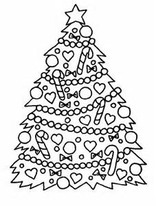 Christmas Tree Coloring Page sketch template