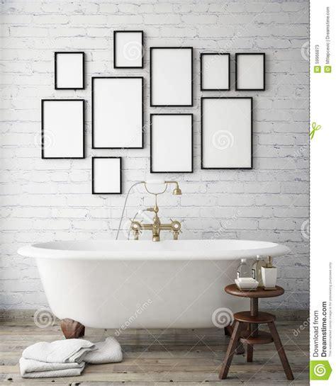 Badezimmer Poster by Mock Up Poster Frames In Vintage Bathroom