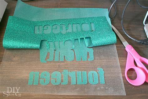 iron on diy glitter iron on vinyl tutorial diy show diy