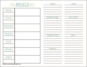 By your hands organizing meal planning ideas