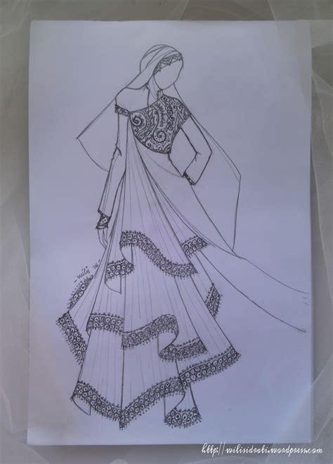 sketsa gambar desain baju muslim sobsketsa