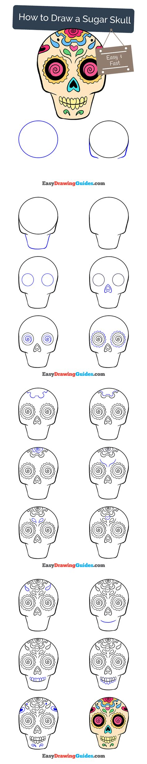 easy step by step how to draw skull and snake pics learn how to draw with easy step by step guides sugar