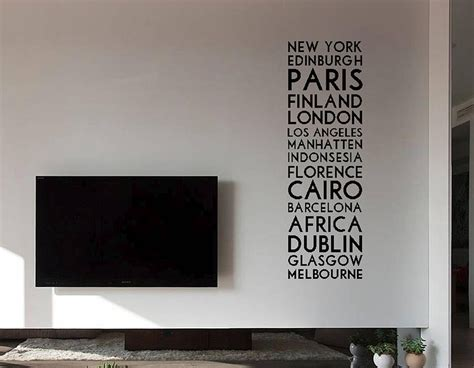 personalised wall stickers uk personalised destination wall sticker contemporary wall stickers
