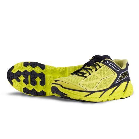 hoka road running shoes hoka clifton mens road running shoes green black at