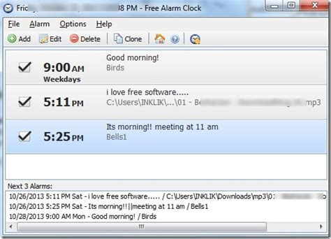 computer alarm clock with reminder up pc from sleep mode