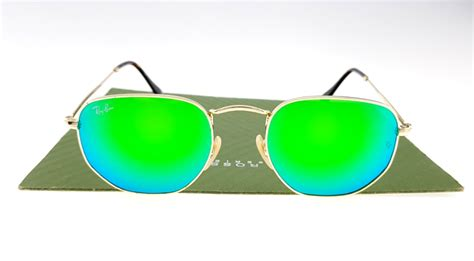 Kaca Mata Sunglasses Rayban 3548 Tosca Rayban Aviator ban 3548 hexagonal gold lens green
