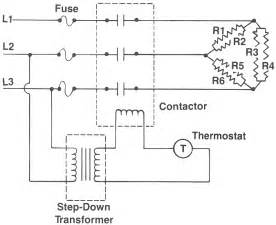 how to wire a single phase heater with 3 phase