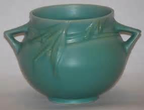 roseville pottery velmoss ii green bowl for sale