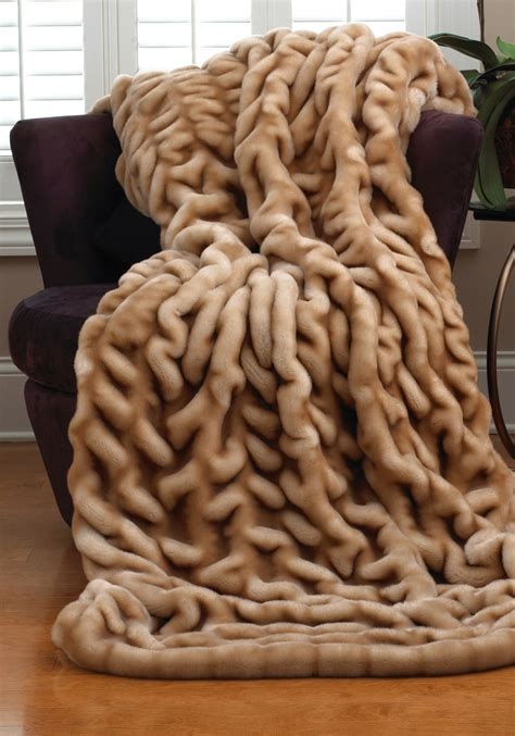 Faux Fur Mink Blanket pretty faux fur blanket giving the warmth for