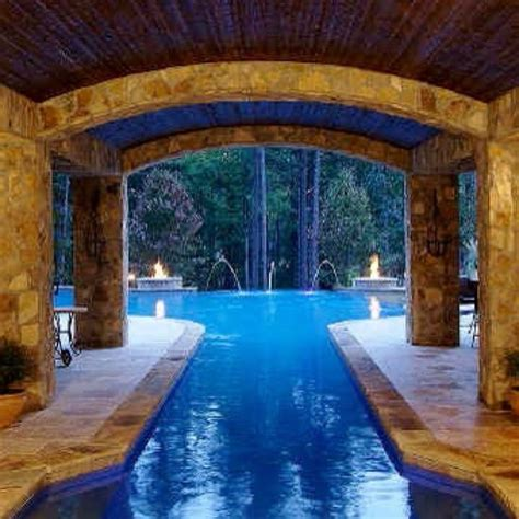 Indoor Outdoor Pool Pools Pools Pools Pinterest House Plans With Indooroutdoor Pool