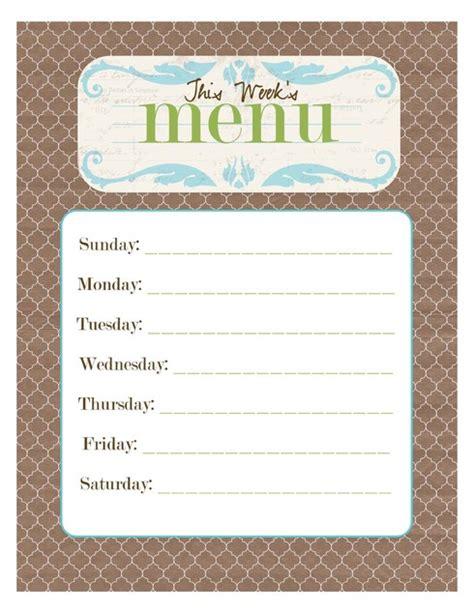 empty menu templates free printable blank menu templates vastuuonminun