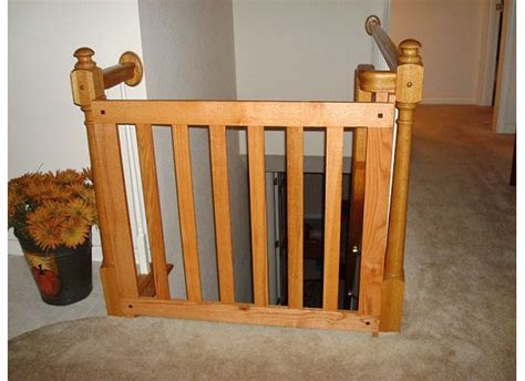 baby gate banister white oak banister baby gate stair rails and banisters