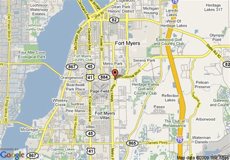 map of florida fort myers map of suburban extended stay of fort myers fort myers
