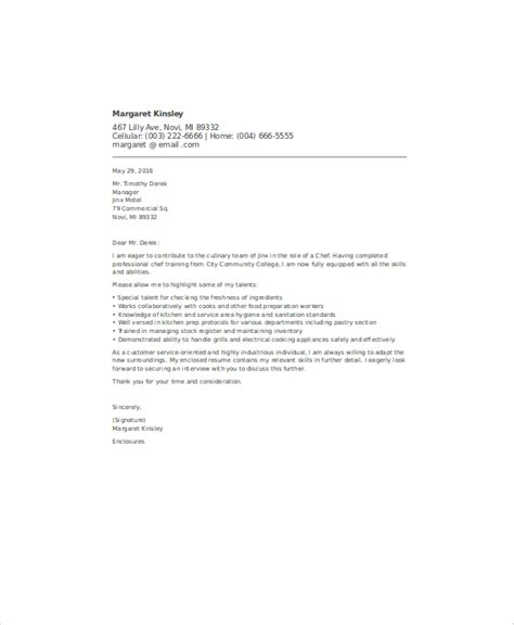 Application Letter For Being A application letter for being a chef 28 images 8