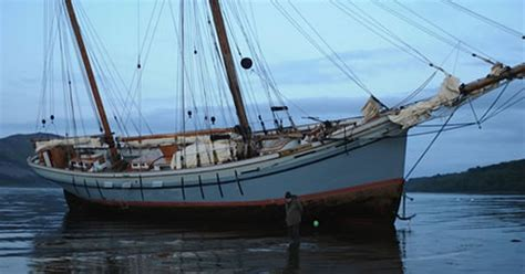 fishing boat load crossword tall ships race yacht re floated after running aground in