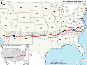 us interstate 40 map quotes