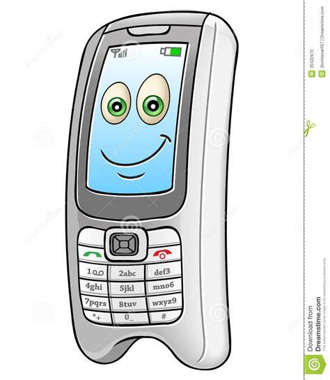 cartoon themes cell phone telefone celular dos desenhos animados foto de stock
