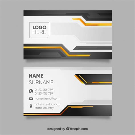Black Business Card Template Vector yellow black business card template vectors photos and