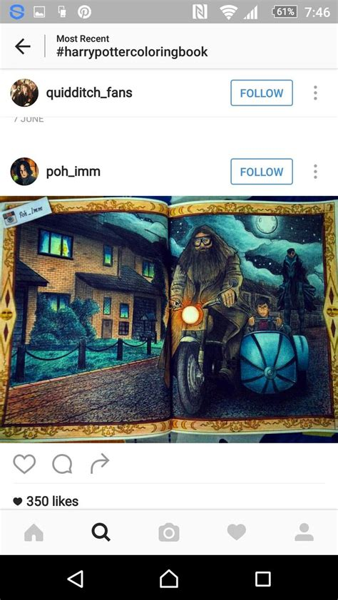 harry potter coloring book instagram 81 best hp coloring book images on coloring