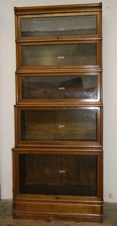 globe wernicke oak stacking bookcase sectional