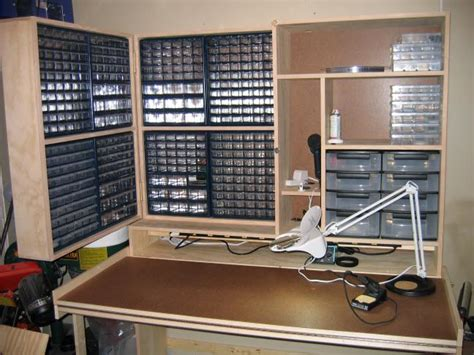 electronic work benches capacitor organizing electronic parts electrical