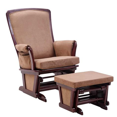 Living Room Chair And Ottoman Aliexpress Buy Wood Rocking Chair Glider And Ottoman Set Living Room Furniture Modern