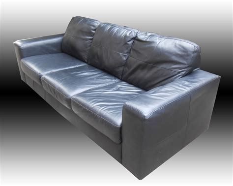Uhuru Furniture Collectibles Ikea Black Leather Sofa Sold Ikea Leather Sofa