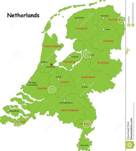ais netherlands de vector kaart van nederland vector illustratie