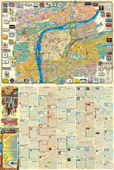 prague map maps update 21051488 prague tourist attractions map
