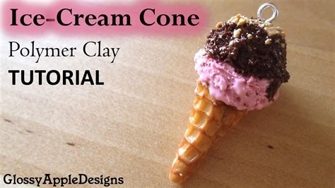 zbrush ice cream tutorial miniature ice cream cone charms polymer clay tutorial