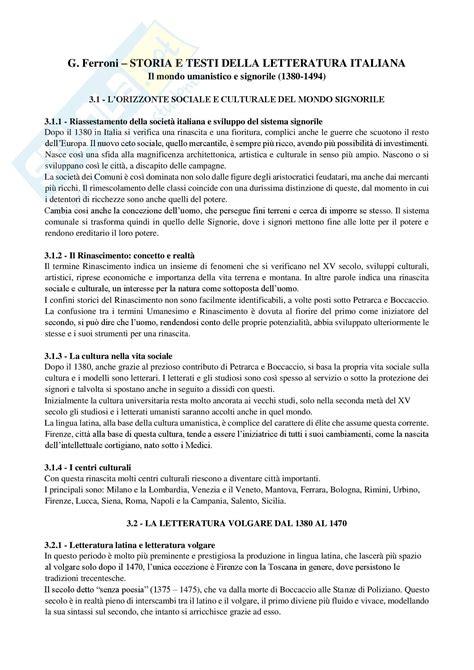 storia e testi della letteratura italiana riassunto esame letteratura prof frasso libro