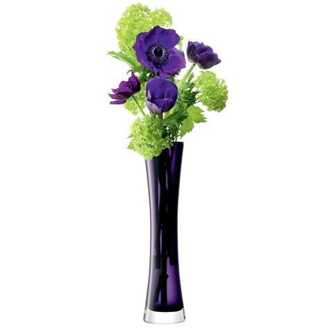 Single Flower In Vase by Purple Single Flower In Vase