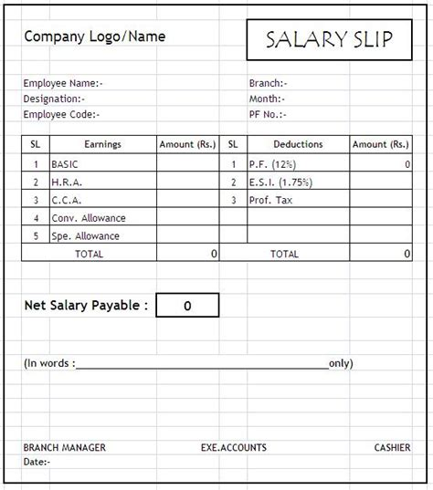 salary receipt template awe inspiring excel sle for staff or employee salary