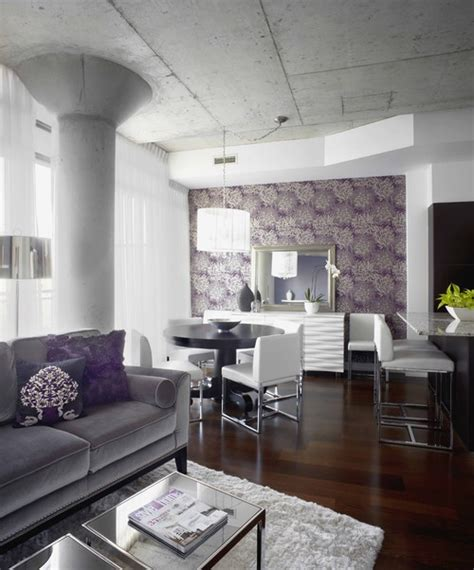 Grey White And Purple Living Room by The Grey Or Purple Sofa Where Can Be Purchase