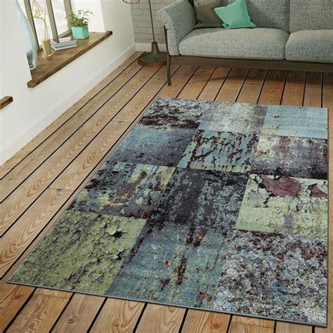 teppich standardmaße teppich modern wohnzimmer industrie look kurzflor