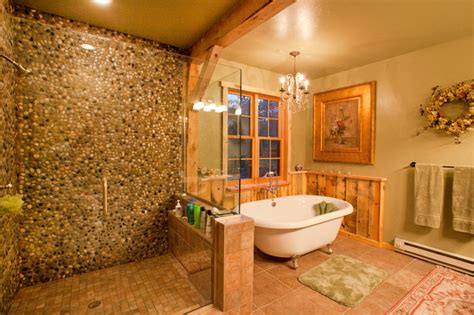 cabin themed bathroom decor montana lodge themed barn home traditional bathroom