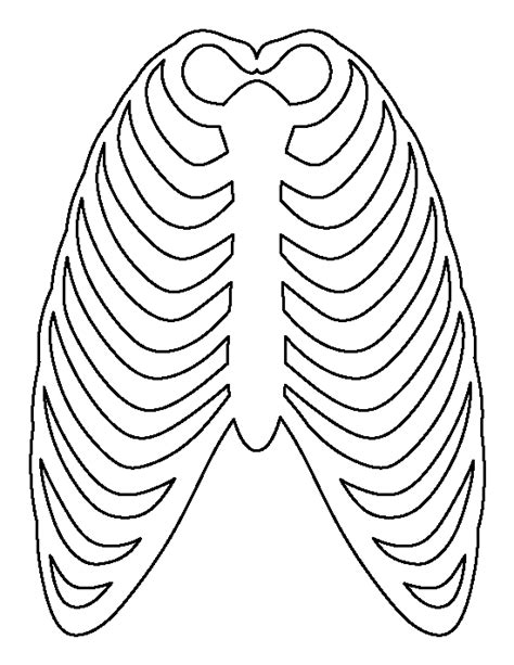 ribcage pattern   printable outline  crafts